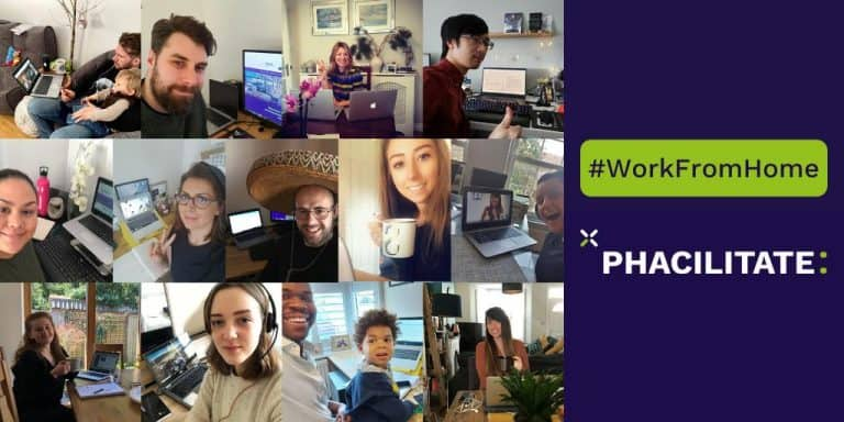 Phacilitate employees show their work from home offices