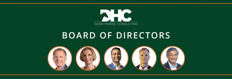 the five faces of the board of directors on a green background